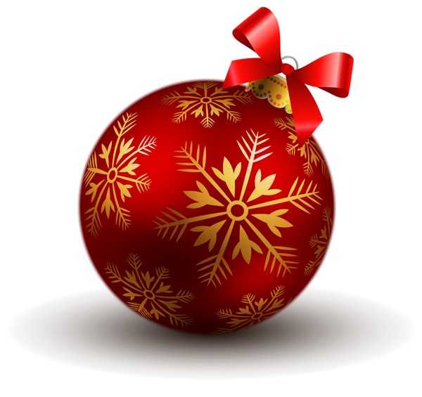 Red Christmas Ball Png image #35329