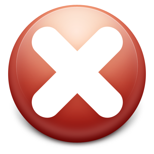 Red Circle, Close Icon  image #13576