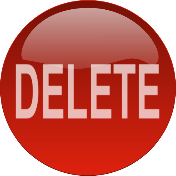 Red Circle Delete Button Png image #28553