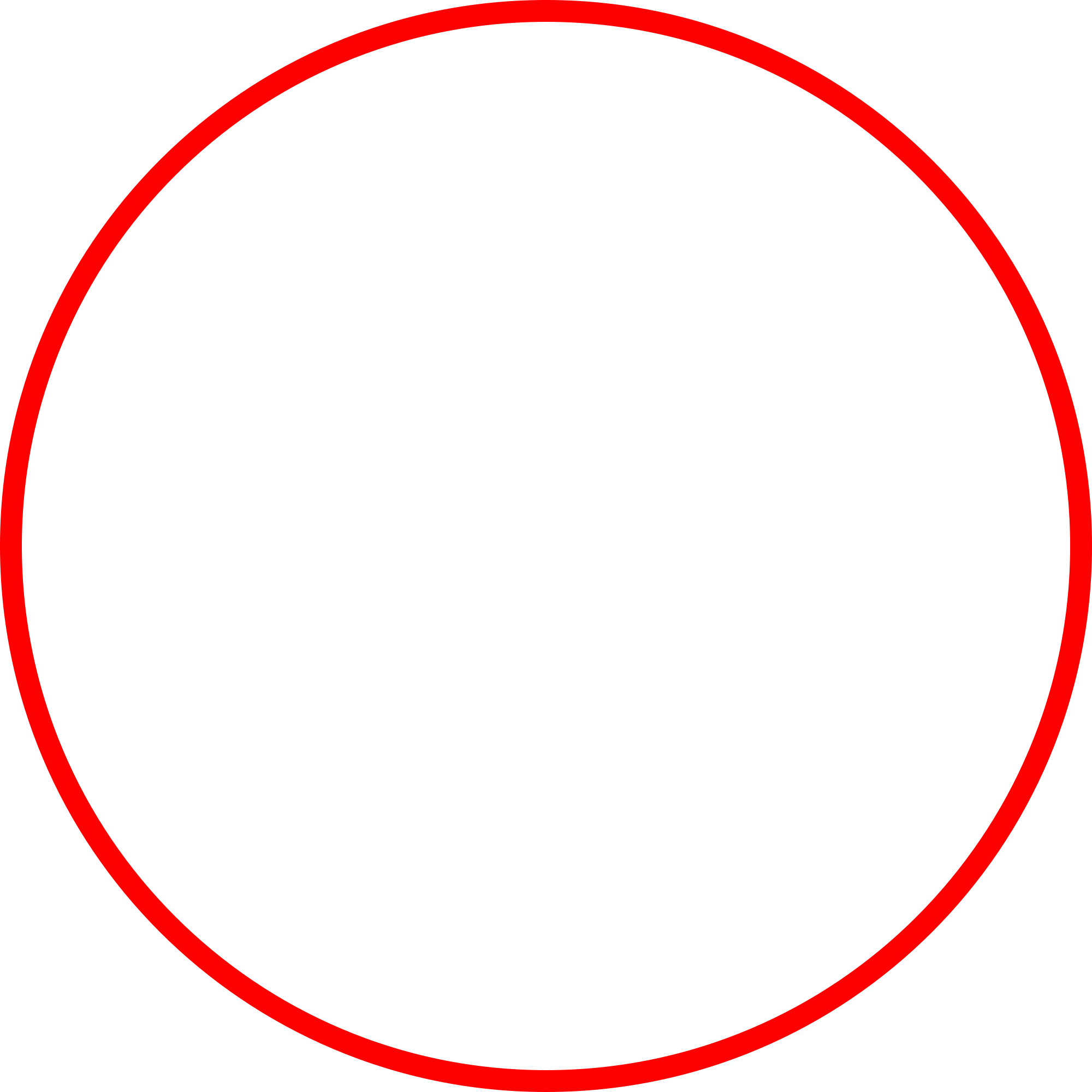 Red Circle Line Png