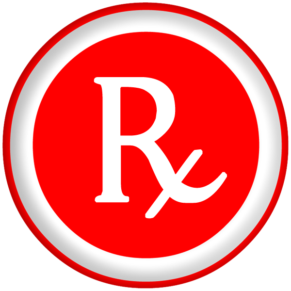 Red Circle Rx Icon image #25481