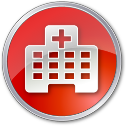 Red Clinic Hospital Icon Png Transparent Background Free Download 7310 Freeiconspng