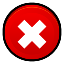 Red Close Icon image #13599