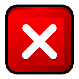 Red Close Icon image #13606