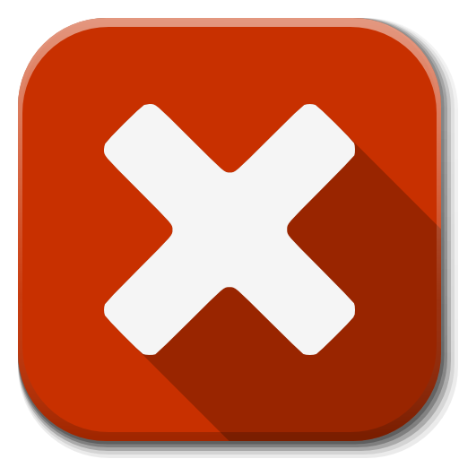 Red Closed Icon image #13579