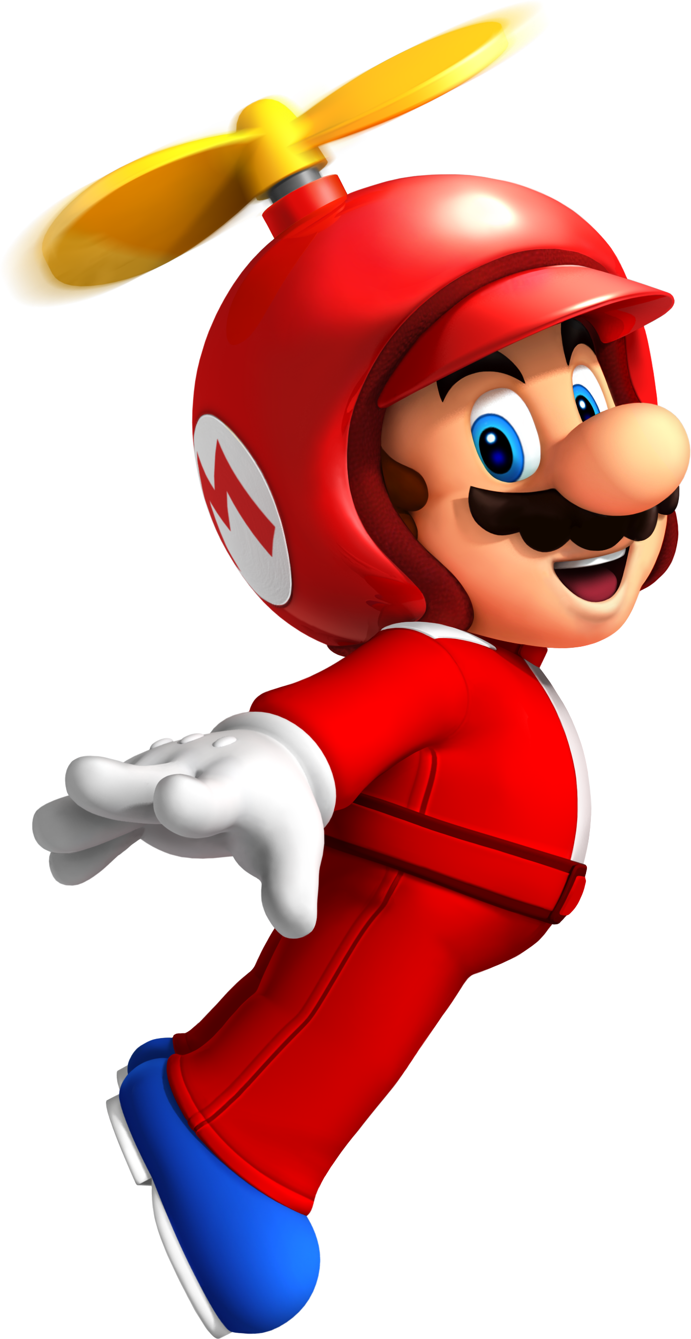 Red clothes with Mario helicopter hat Png