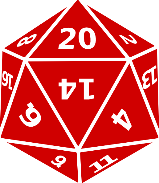 Red D20 Icon image #34409