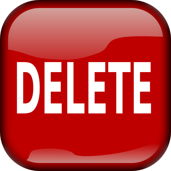 Red Delete Button Png image #28554