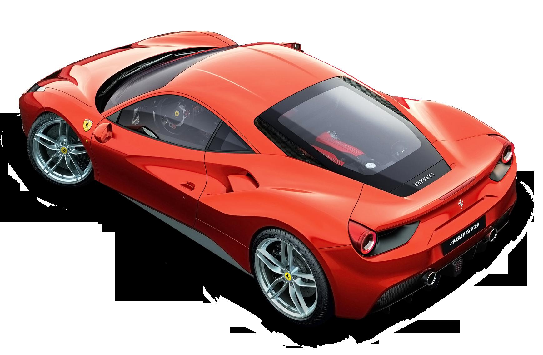 Red Ferrari Top car png