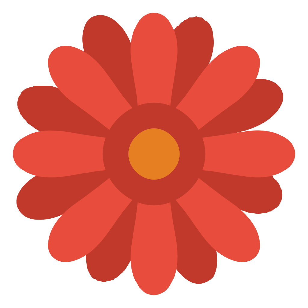 Red Flower Icon image #34271