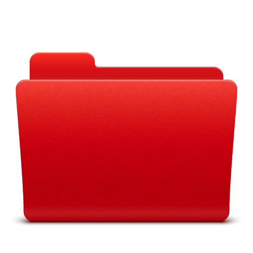 Red, Folder, Directory Icon Png image #12384