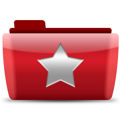 red folder favorite icon
