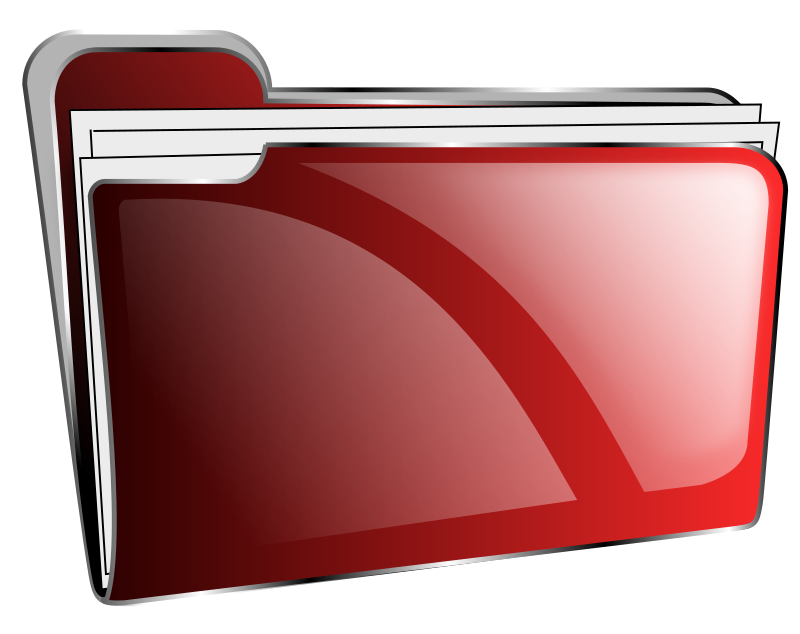 red folder full icon png