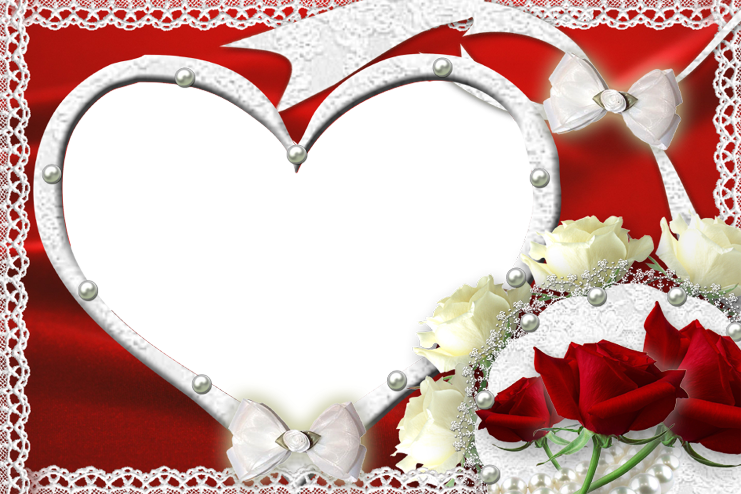 Red Frame Heart Png image #31015