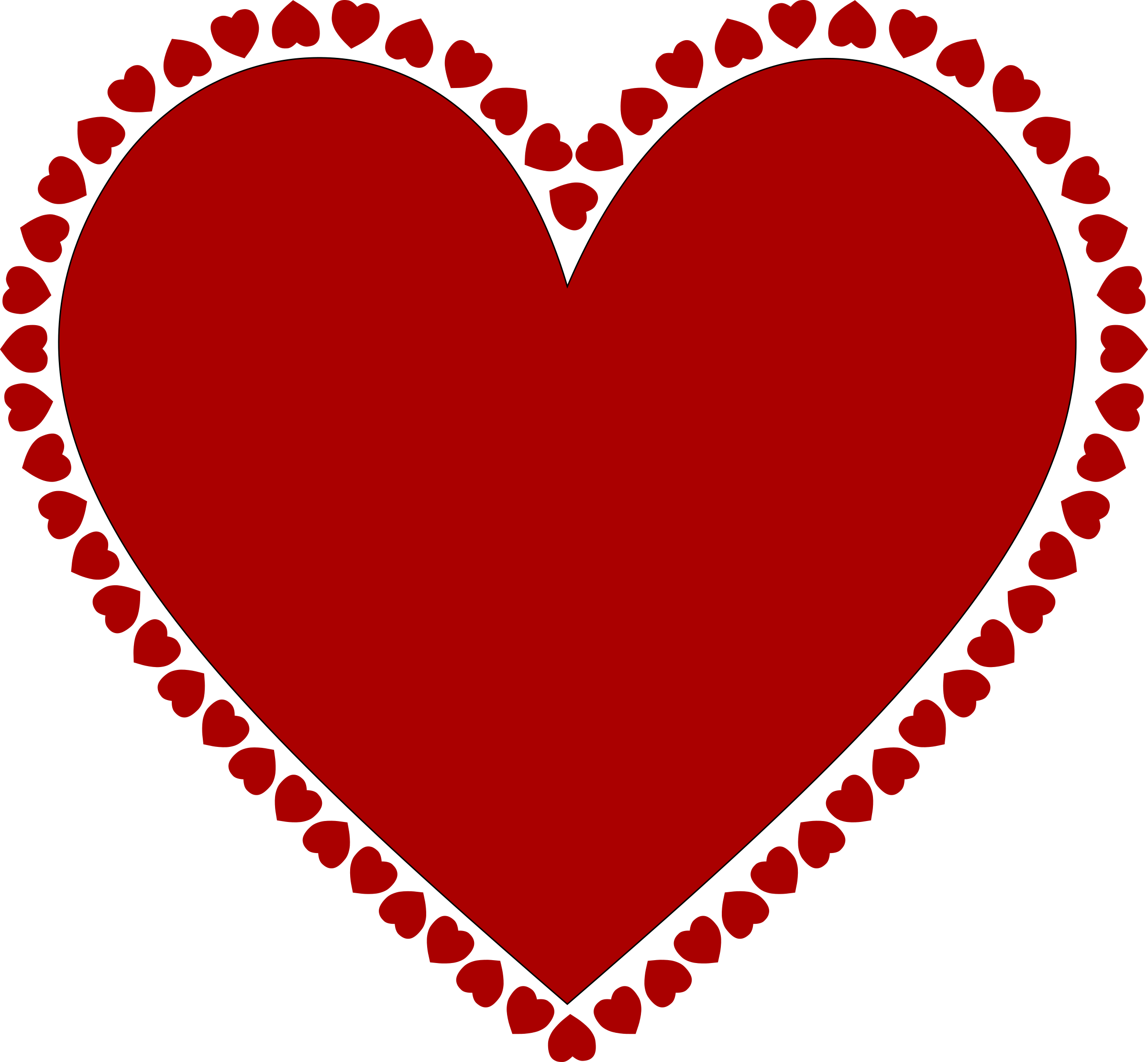Red Frame Heart Png image #31016