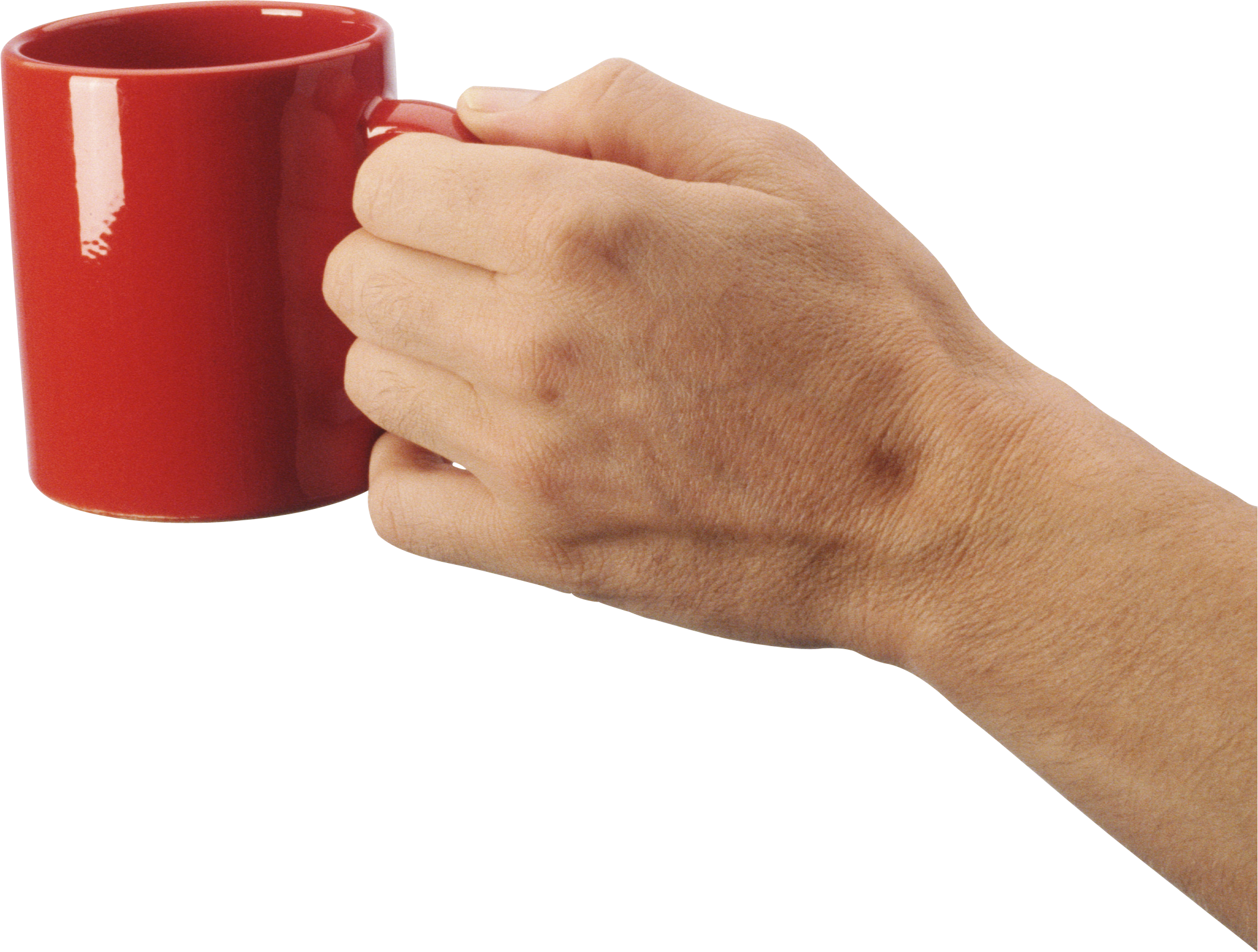 red glass with hands png