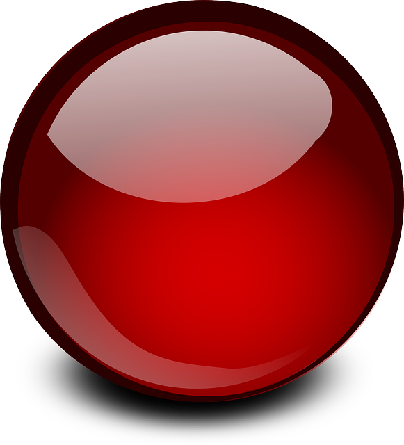 Red Glossy Ball Png image #26215