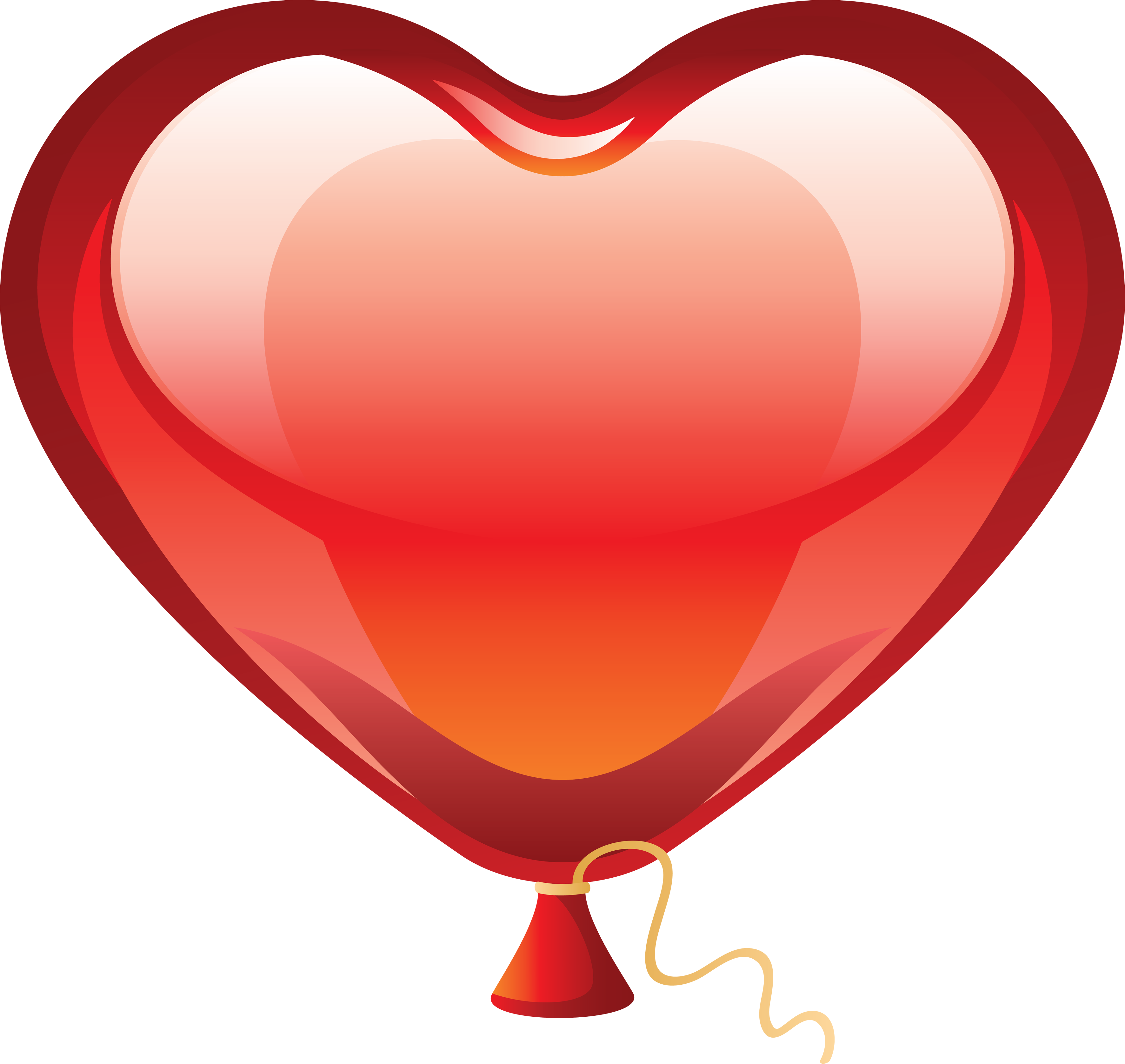 Red Heart Balloon Png image #28095