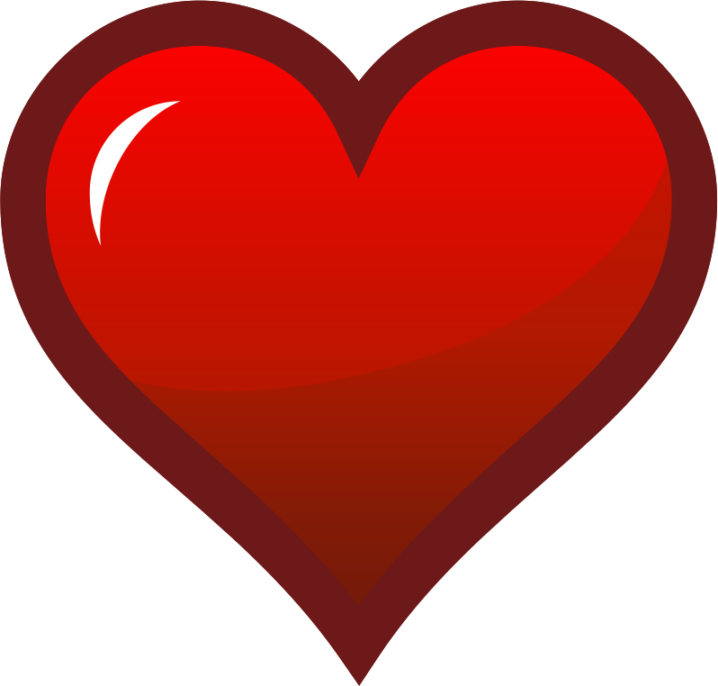 Red Heart Icon Dark Border image #3336