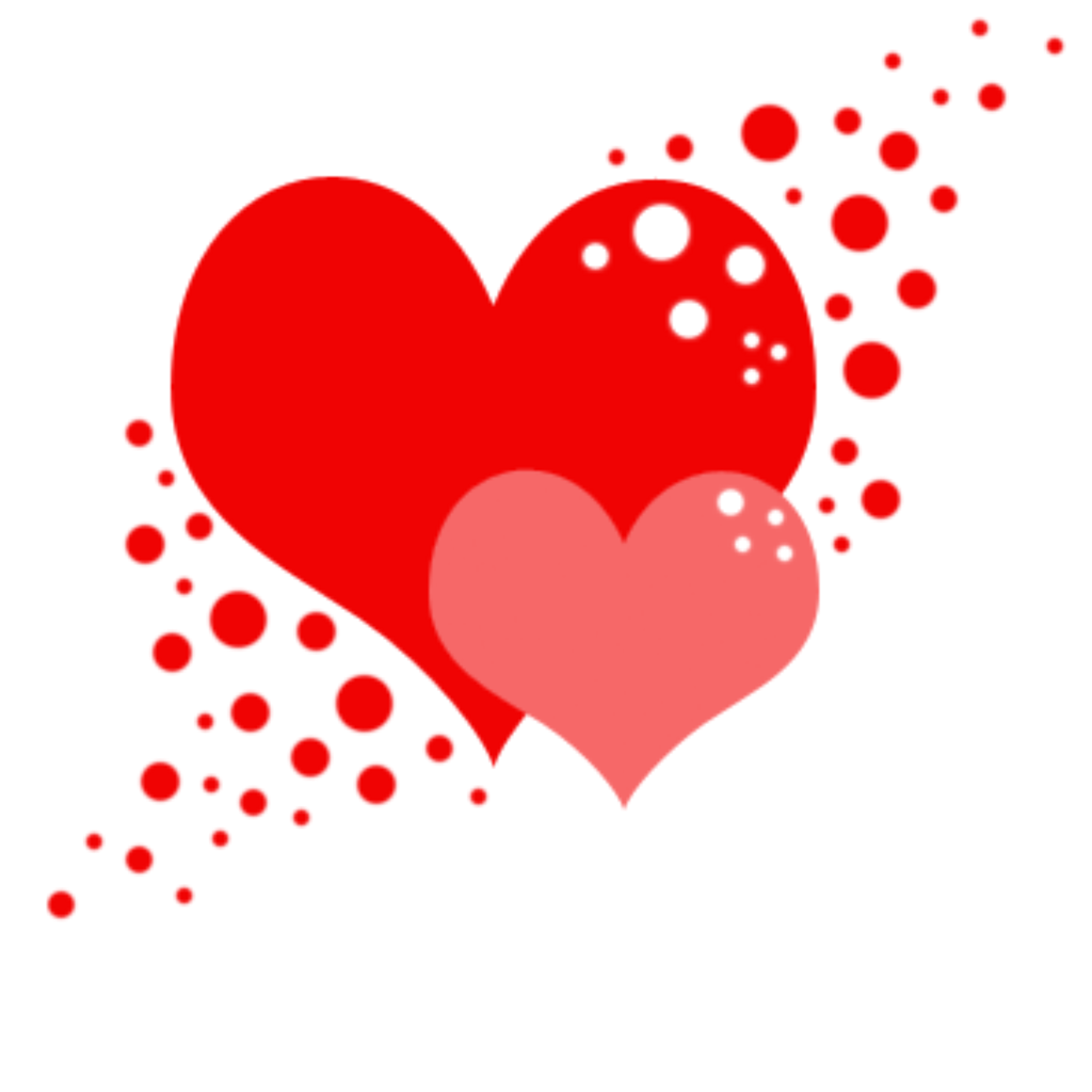 Red Hearts Valentine Png image #31085