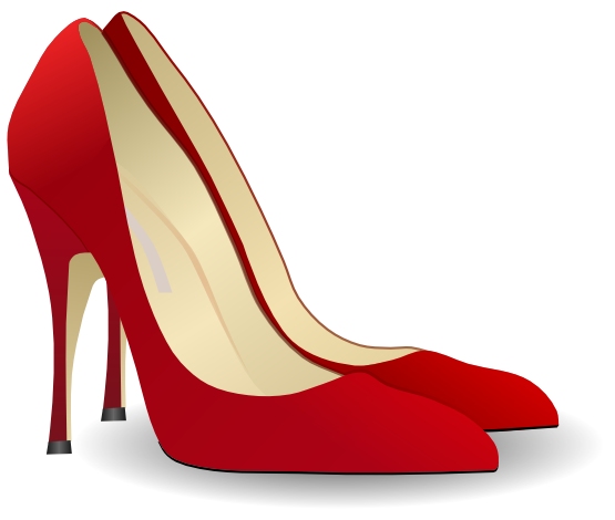 Red Heels, Pair Shoes Png Icon image #46803