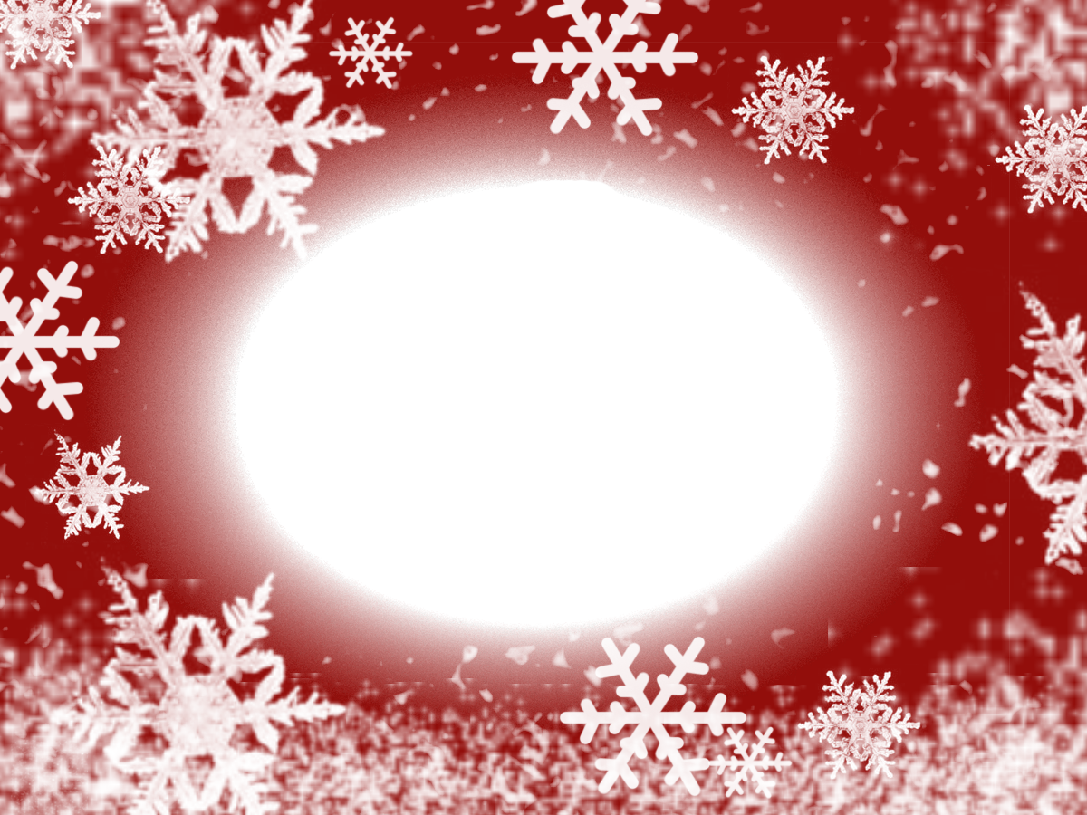 Red large christmas transparent png photo frame