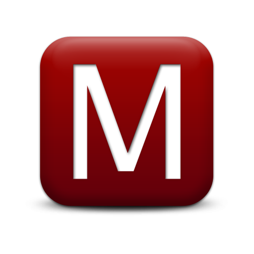 Red Letter M Icon Png image #10570
