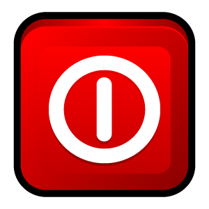 Red Log Off Icon image #8384