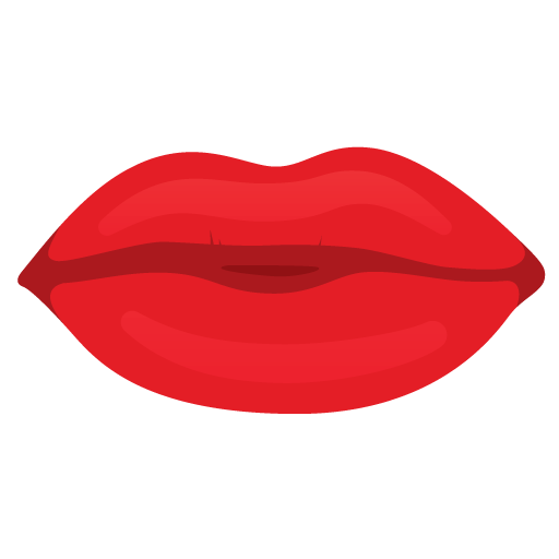 Red Mouth Lips Icon image #14298