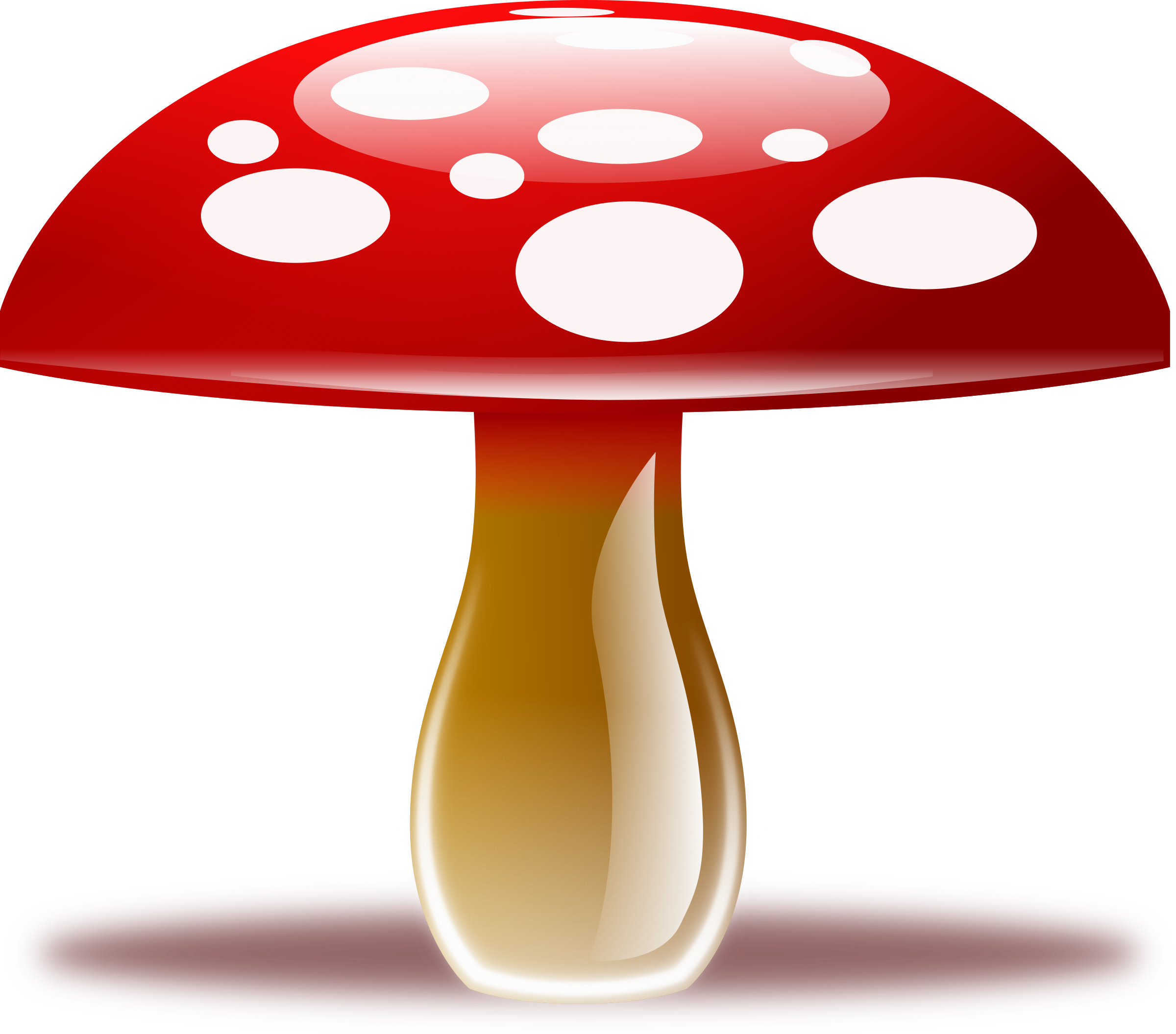 Red Mushroom Png Clipart image #42888