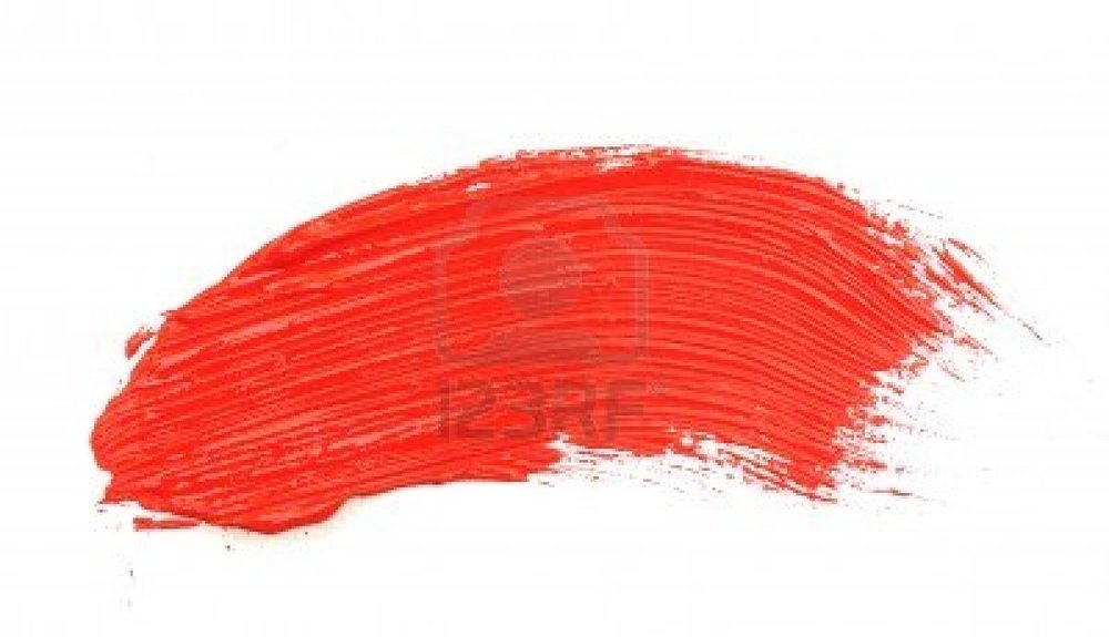 Red Paint Brush Stroke Png
