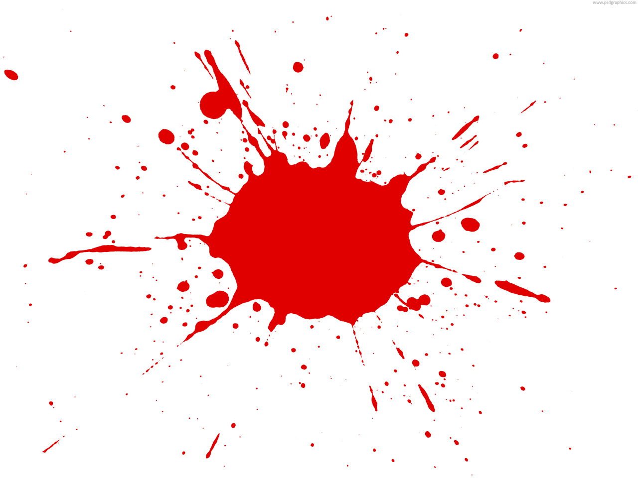 red paint splatter png