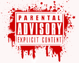 Red Parental Advisory Png image #43532