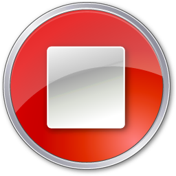 Red Play Stop Pause Icon image #13415