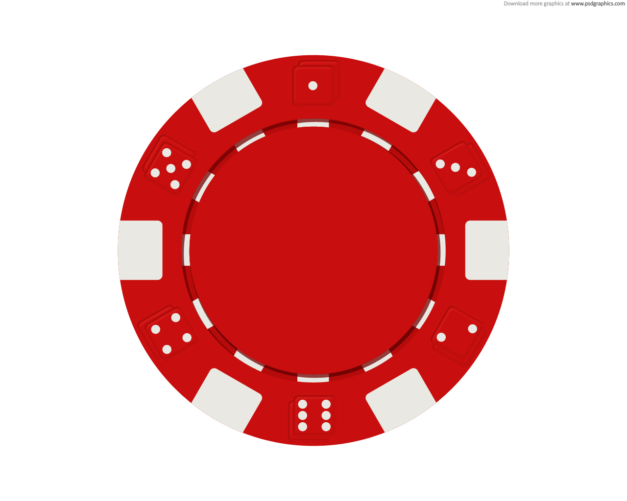 Red Poker Chip Icon image #43951