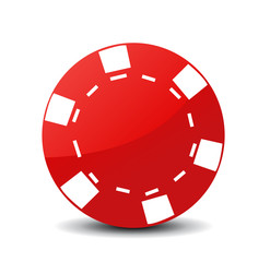 Red Poker Chip Icon image #43964