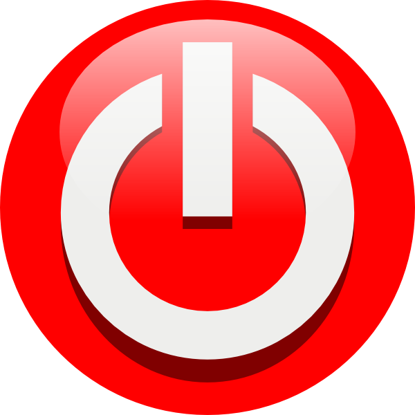 Red Power Button Icon image #8363