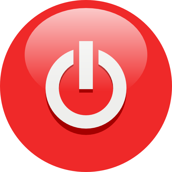 Red Power Button Symbol Icon image #8366