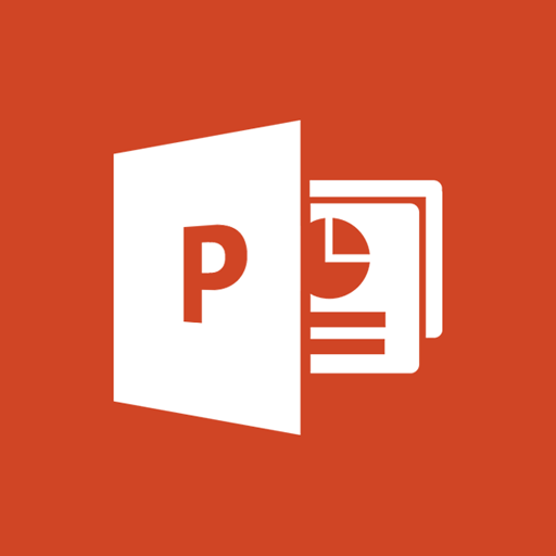 red powerpoint icon