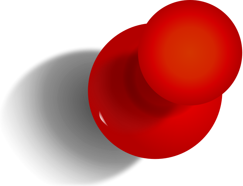 Red Pushpin Png image #27702