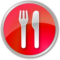 Red Restaurant Icon Png Transparent Background Free Download 4888 Freeiconspng