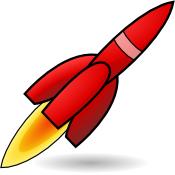 Red Rocket Icon Png image #40804
