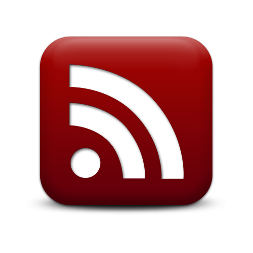 Red Rss Logo Icon Png image #11308