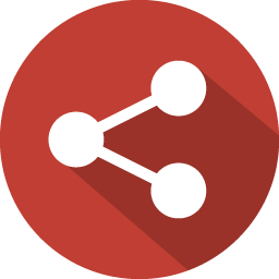 Red Share Icon image #40120