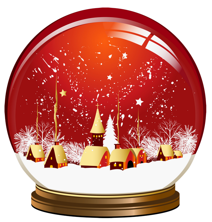 red snow globe png