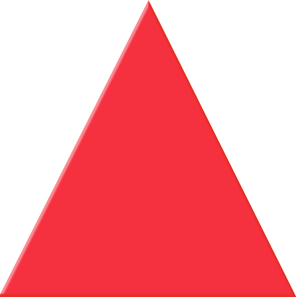 Red Triangle Png image #42410