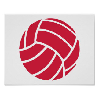 Red Volleyball Icon Poster image #3263
