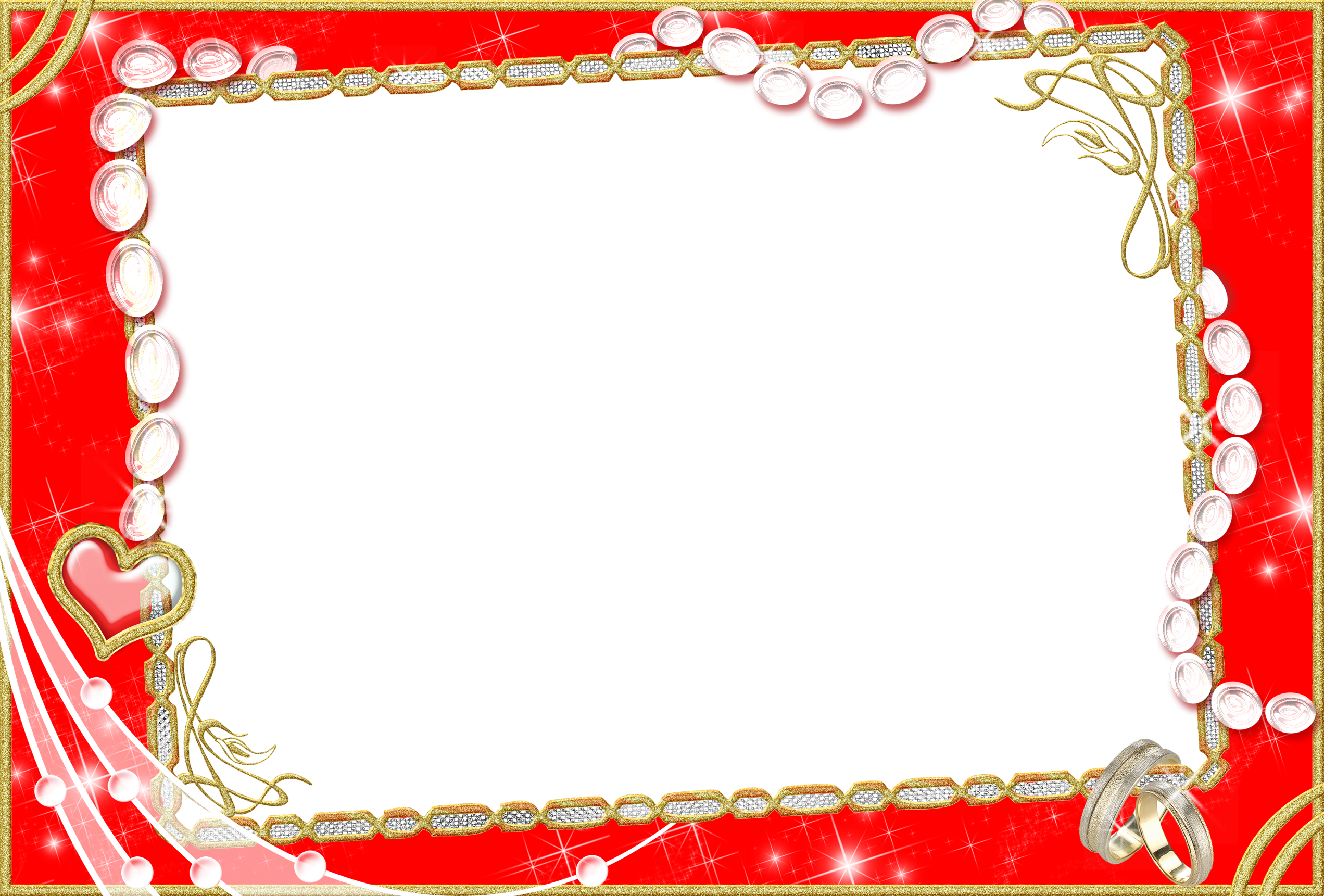 red wedding photo frame png image 24587