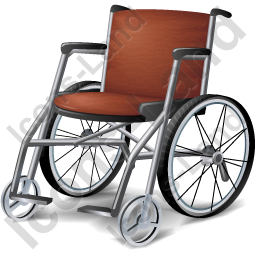 Red Wheelchair Png Photo image #40975
