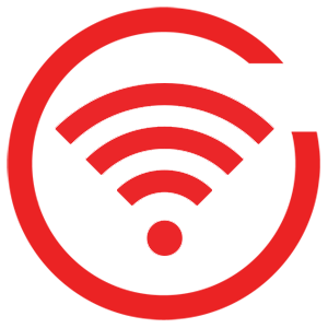 Red wireless icon png
